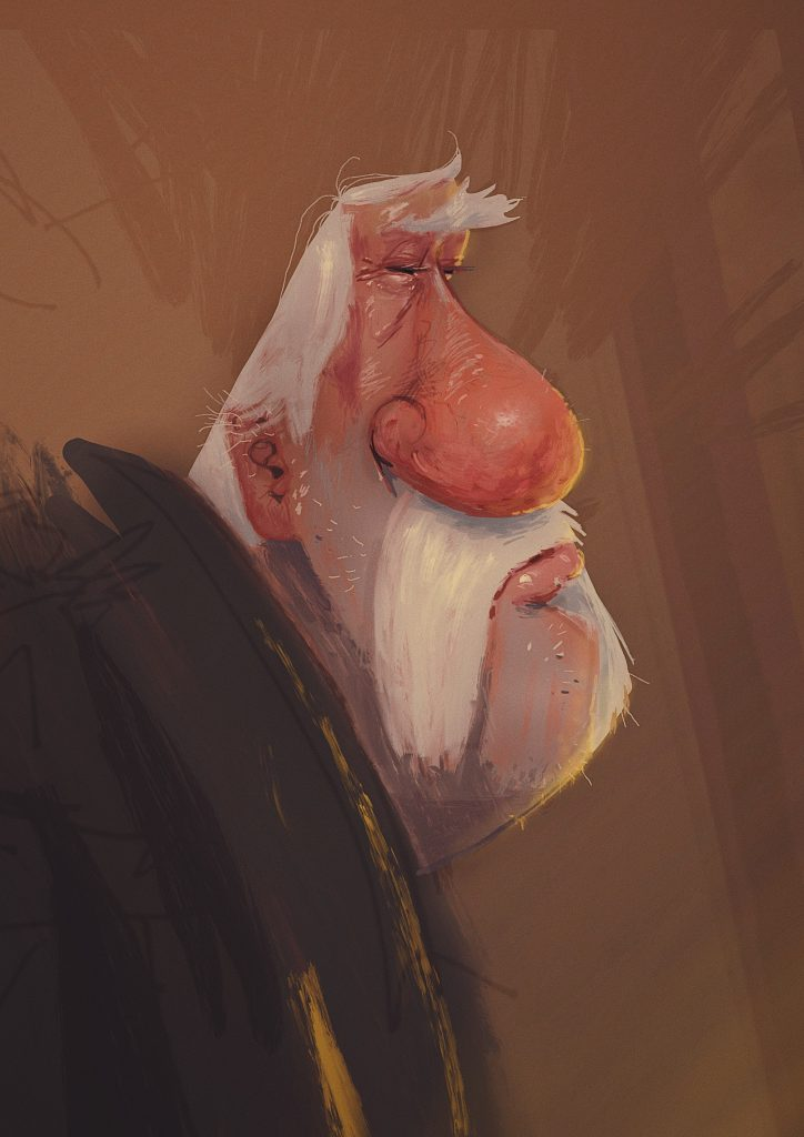 old man character design by paintpaul illustrator and concept artist from köln cologne germany